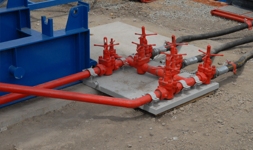 High and Low Pressure Pipe Maniflod [ Offshore Drilling Module - Workover Rig ]