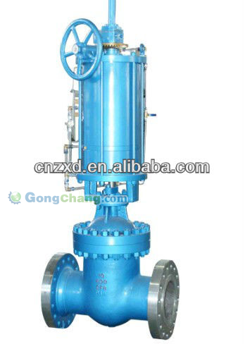 High pressure pneumatic double acting parallel Gate Valve